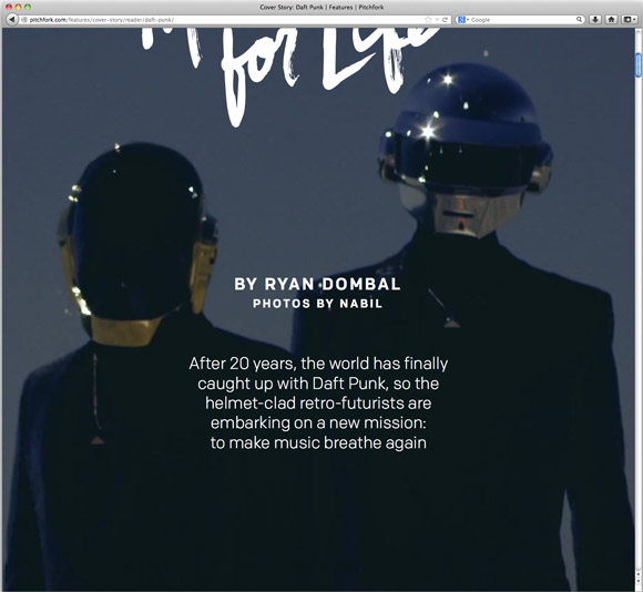 Daft Punk Cover Story