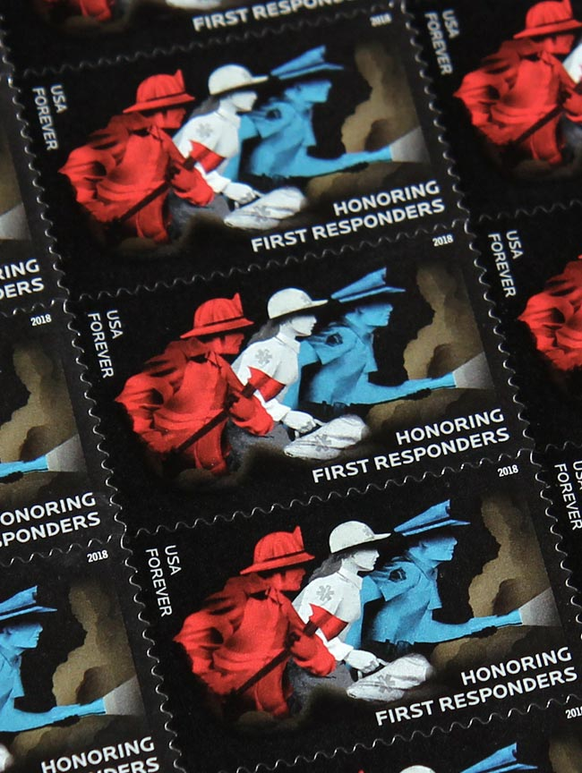 Stamp: Honoring First Responders set in Locator.